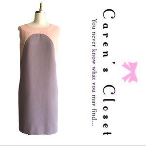 Bar lll Peach & Gray Sleeveless Shift Dress
